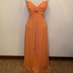 B. Smart Orange Sparkle Formal Prom Dress
